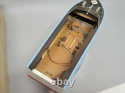 ULTRA RARE Vintage MSK Japan WOOD Model speed boat Toy & Box MINT NO RESERVE