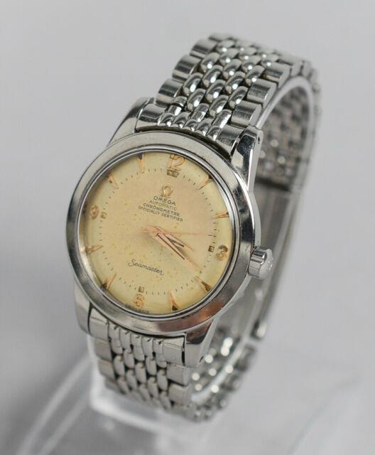Ultra Rare Vintage Omega Seamaster Chronometre 352 Rg Stainless C2577-4 Watch