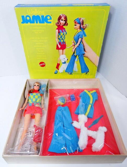 Ultra Rare! Vintage Sears Walking Jamie Doll Strollin' In Style Gift Set Nrfb