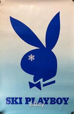 ULTRA RARE Vintage Ski Playboy Skiing Winter Bunny Logo Poster Art 24x36 #38