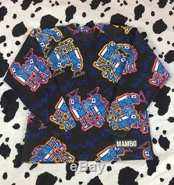 ULTRA RARE Vtg 1990s MAMBO Australia Sweater Sweatshirt T-Shirt Sz L 90s Loud