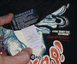 ULTRA RARE Vtg EROSTY POP T-Shirt NAUGHTY FAIRY Marijuana Drugs Mushroom USA Lg
