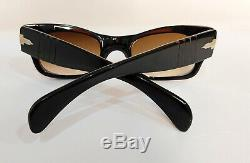 Ultra RARE 6200 Persol Sunglasses Ratti Meflecto Wide Arms Size 47 Vintage 60's