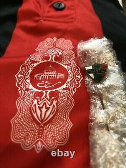 Ultra RARE Football Jersey FC Palestino Gold Number 11 + Vintage Brooch PIN