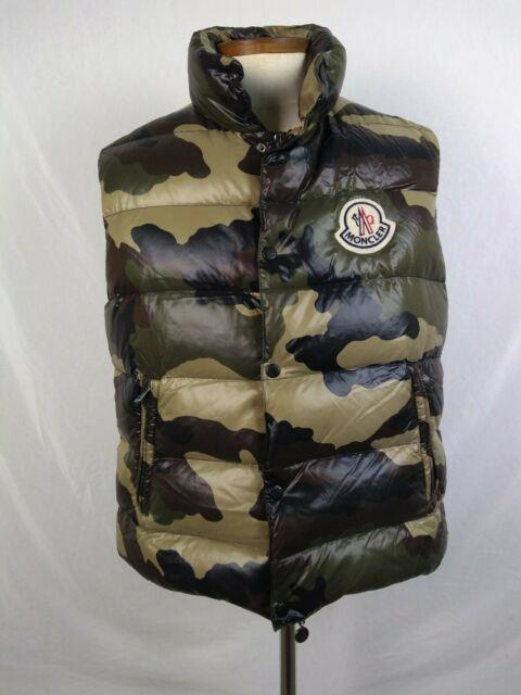 Ultra Rare Moncler Camo Puffer Tib Vest Sz 4 Vintage Xl Logo Camouflage Quilted