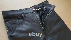 Ultra RARE VINTAGE LEVIS 100% Black Leather Pants LOT 53 SIZE 36/36 MINT