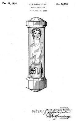 Ultra RARE Vintage Beauti-Symbol rotating neon Mannequin Beauty Shop Barber Pole