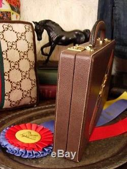 Ultra RARE Vintage GUCCI Backgammon Game Set Barware Library Holiday Party Gift