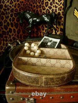 Ultra RARE Vintage GUCCI Desk Decor Design Tray Keeper Trinket Cache Accessory