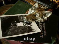Ultra RARE Vintage GUCCI Fox Art Paper Clip Weight Home Desk Accessory SHARP GG