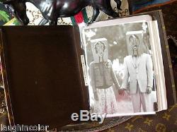 Ultra RARE Vintage LOUIS VUITTON PHOTO ALBUM Desk Set SAKS FC Frame Accessory LV