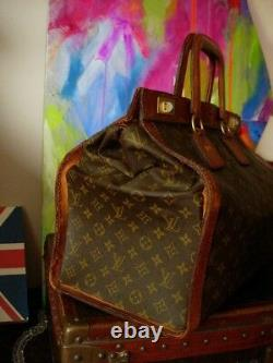 Ultra RARE Vintage LOUIS VUITTON Steamer Tote Suitcase Luggage Bag Keepall LV