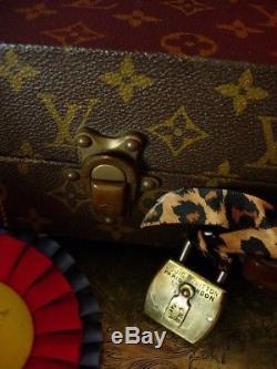 Ultra RARE Vintage LOUIS VUITTON Trunk Padlock Lock Keepall Luggage Accessory LV