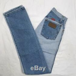 Ultra RARE Vintage WOMENS color block/ Two Toned WRANGLER JEANS 70s 100% Cotton