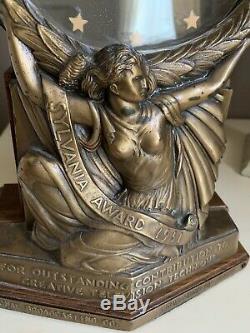 Ultra Rare 1951 NBC Sylvania Award Trophy Clock Vintage Emmy Precursor