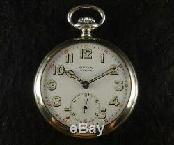 Ultra Rare Antique Cyma Military Pocket Watch Near Mint With Enamel Dial Working