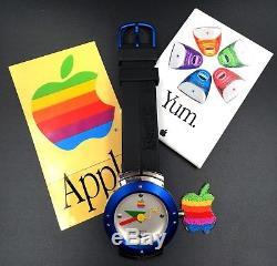 Ultra Rare Apple Computer Mac OS Wrist watch Rainbow Logo Vintage