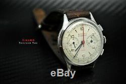 Ultra Rare Excelsior Park Dinamo Multichron Vintage Chronograph Big Eye Gallet