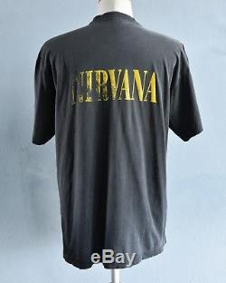 Ultra Rare! KURT COBAIN vintage NIRVANA Dollar T Shirt Nevermind Faded Grunge