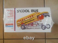 Ultra Rare Monogram Tom Daniel S'cool Bus Test Run Red Plastic Sealed