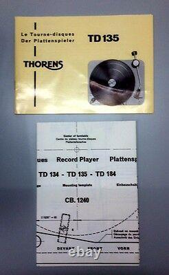 Ultra Rare Nos Vintage Still Boxed Thorens Td 135 Mk I