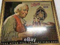 Ultra Rare Old Storz Beer Innkeeper Sign With Storz Frame! Vintage Non Motion