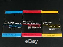 Ultra Rare Original VTG GDW Traveller Supplements #1-13 OOP Full Set 1978-1983