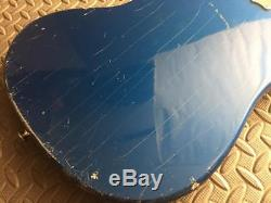 Ultra Rare Pair Mij Vintage 1965 Zenon Blue Offset Guitars Teisco Guyatone Cool