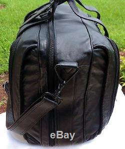 Ultra Rare Tumi Columbian Vintage Leather 3 Zip Carry On Weekend Duffel Bag