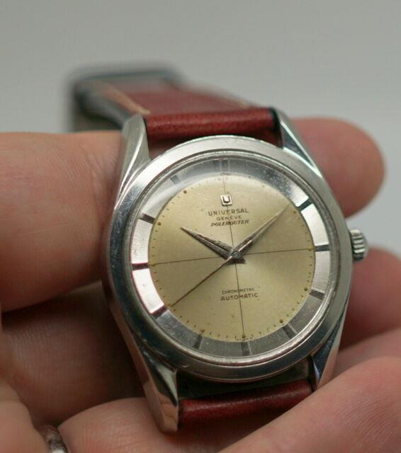 Ultra Rare Universal Geneve Polerouter Chronometre Original, Serviced H20217-3