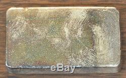 Ultra Rare Vintage 10 ounce Engelhard 999+ Poured Silver Bar 55839 MFR