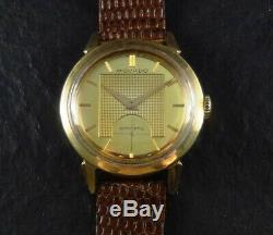 Ultra Rare & Vintage 1940s Movado Gold Dial Automatic Bumper Wristwatch Amazing