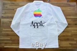 Ultra Rare! Vintage Apple Computer Rainbow Logo Coach Jacket M Size Macintosh