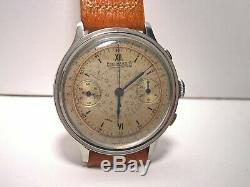 Ultra Rare Vintage Chronograph Eberhard Pre Extra Fort 1940 Step Case 40,3mm