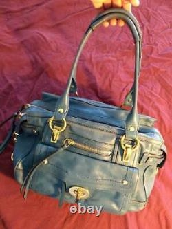 Ultra Rare Vintage Coach Hamptons Lindsay Handbag Purse Satchel, Teal 12475