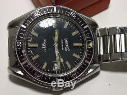 Ultra Rare Vintage Diver Eberhard Scafograf 300 Gilt Dial Top Condition