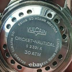 Ultra Rare Vintage Diver Vulcain Nautical Cricket 1960 First Series