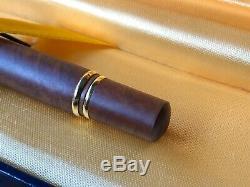 Ultra Rare Vintage Fountain Pen Waterman Man 100 Briar Wood 18 Kt Globe Nib