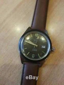 Ultra Rare Vintage Helma Diver German Military Wehrmacht Old Swiss Wirst Watch