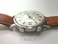 Ultra Rare Vintage Jaeger Le Coultre Memovox Speed Beat E875 Stainless 37mm