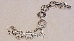 Ultra Rare & Vintage! James Avery Sterling Silver Balmorhea Bracelet VHTF 6.75