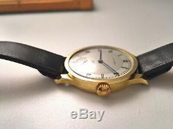 Ultra Rare Vintage Longines Calatrava Sector Dial 2 Tone Gold 18kt 1930 Circa