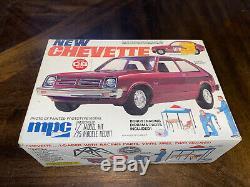 Ultra Rare Vintage MPC New Chevy Chevette 1/25 Model Car Kit