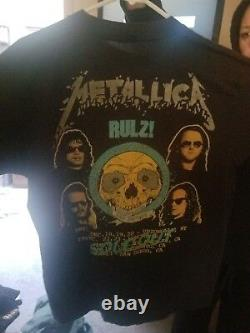 Ultra Rare Vintage Metallica 2 sided Tour Shirt 1991