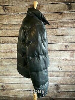 Ultra Rare Vintage Polo Ralph Lauren Down Leather Jacket Size L Men's RRL