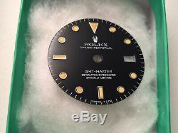 Ultra Rare Vintage Rolex Gmt Master 16750 Dial No Date Stunning Patina