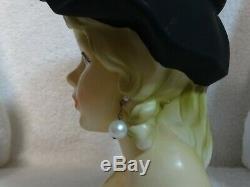Ultra Rare Vintage Royal Crown 3411 Sunglasses Teen 7 Lady Head Vase
