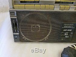 Ultra Rare Vintage Sharp Gf-515 Radio Cassette Ghetto Blaster Boombox