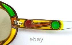 Ultra-Rare Vintage Sunglasses France Paris Made 1950s BREVET Colorful Frame NOS