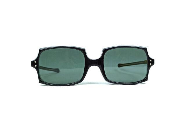 Ultra-rare Vintage Sunglasses France Paris Made 1950s Black Rectangular Frame